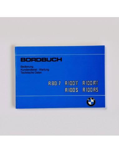 mode d'emploi BMW R 80RT, R 100, R...