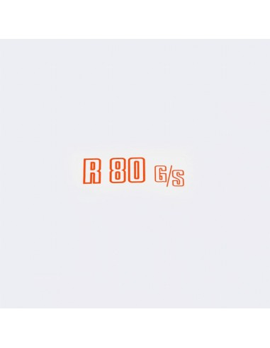 """autocollant """"R 80G/S""""rouge pour cache..."""