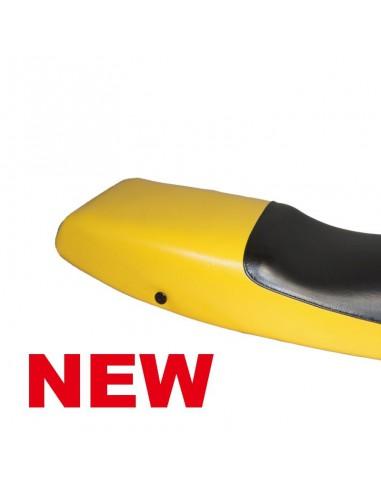 revêtement de selle jaune et noir BMW K1